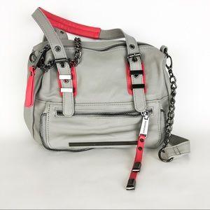 Steve Madden Gray Pink Satchel Bag